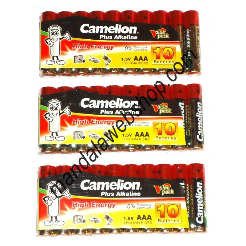 10 piles alcalines plus aaa lr03 camelion - Pile aaa lr03 ...