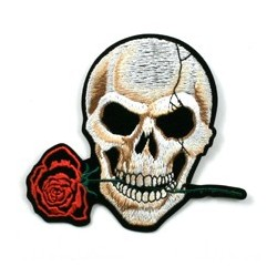 Ecusson Thermocollant Flower Death (Skull Rose Shield)