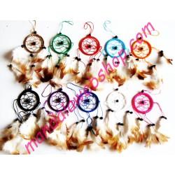 Mini Attrape Rêves (Dreamcatcher) 6 CM - Couleurs Au Choix