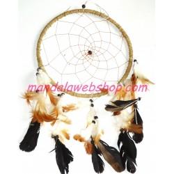 Attrape Rêves (Dreamcatcher) 22 CM - Finition Marron Naturel