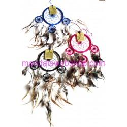 Attrape Rêves (Dreamcatcher) 11,5 CM + Cercles 4 CM - Couleurs Au Choix