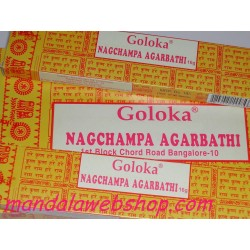 Encens GOLOKA NAG CHAMPA - Lot de 12 PROMO Point Relais !