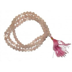Mala Quartz Rose  - 108 Perles