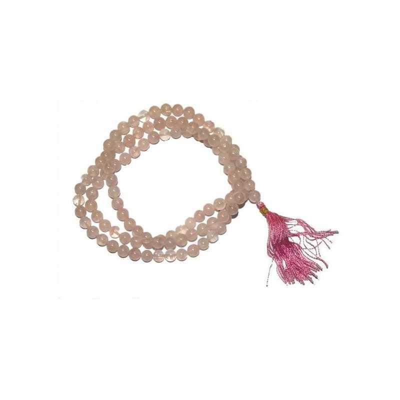 Mala Quartz Rose  - 108 Perles