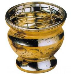 Brûle Encens avec Grille Laiton Doré 7 cm