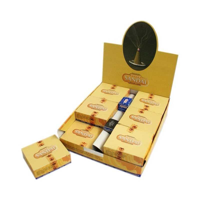 Encens Cône Super Sandal (Santal) - Lot de 12 Boites PROMO Point Relais