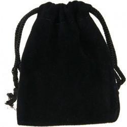 Pochette Suédine Noire 7 cm (Mini bourse, Pochon)