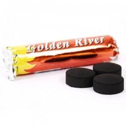 Charbon GOLDEN RIVER NARGUILE/CHICHA/ENCENS - Rouleau de 10 Pastilles