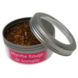 Encens MYRRHE Rouge Grains et Poudre -  Boite de 100 Grammes