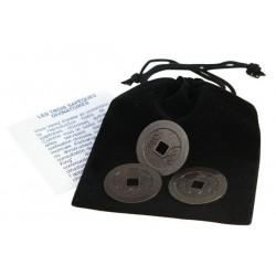 Les 3 Sapèques (Pièces) du Yi-King - Laiton
