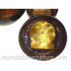 Bol Chantant Tibétain Gravé FAIT MAIN 16 CM