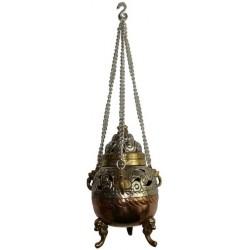 Encensoir En Cuivre et Laiton - Brûle encens à Suspendre  Petit Modèle