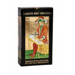 Tarot des VISCONTI - 78 Cartes Or + Livret Explicatif