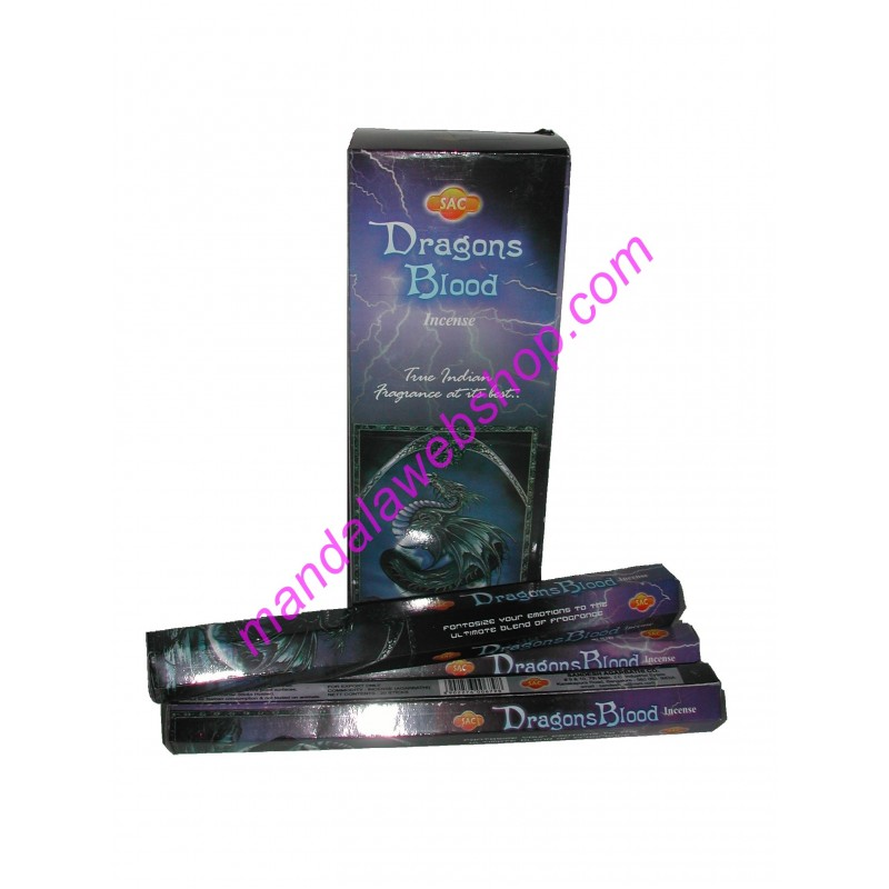 Encens DRAGONS BLOOD Sandesh Boite de 20 Batonnets