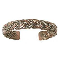 Bracelet Torsadé - Métal et Cuivre