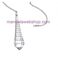 Pendule Goutte Spirale Cristal de Swarovski