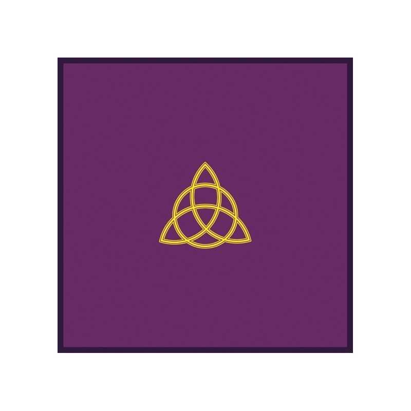 Tapis de Tirage Violet 80 x 80 cm - Motif TRIQUETA