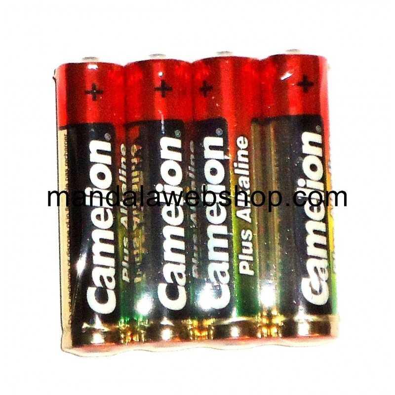 4 Piles Alcalines Plus AAA LR03 CAMELION