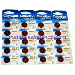 Blister 5 Piles Bouton LITHIUM - CR2016 - 3V - CAMELION