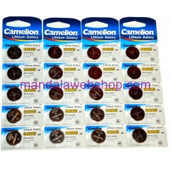 Blister 5 Piles Bouton LITHIUM - CR2025 - 3V - CAMELION