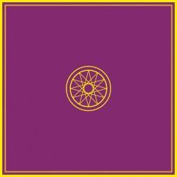Tapis de Tirage Violet 80 x 80 cm - Motif ESOTERIQUE