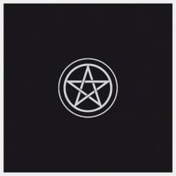Tapis de Tirage Noir 80 x 80 cm - Motif Pentacle