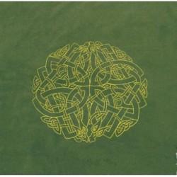 Tapis de Tirage Vert 80 x 80 cm - Motif Labyrinthe Celtique