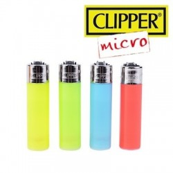 Briquet MICRO CLIPPER Color Transparent  à l'unité