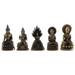 Mini Statue Bouddha Laiton 3,5 cm - Lot de 5