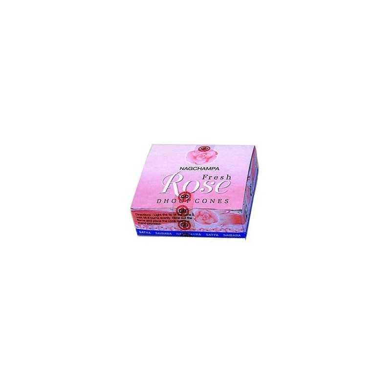 Encens Cône Fresh Rose - Boite de 12 Cônes