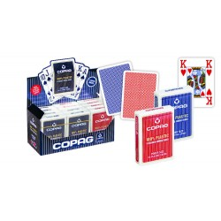 Cartes COPAG 100% Plastique JUMBO Index 4 - Box de 12 PROMO !