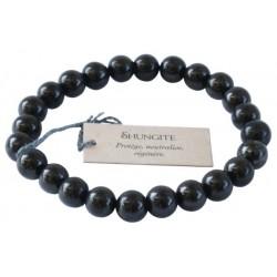 Bracelet Perles Rondes SHUNGITE  - 8 mm