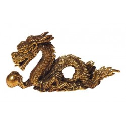 Mini Statue Dragon laiton 5 x 3 cm