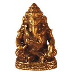 Mini Statue Ganesh Assis Laiton 1,5 x 3 cm