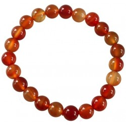 Bracelet Perles Rondes CORNALINE - 8MM