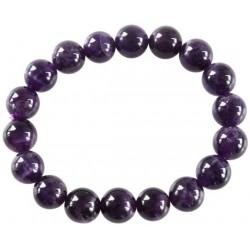 Bracelet Perles Rondes Améthyste - 10 mm