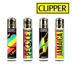 Briquets Clipper RASTAFARI Lot de 4