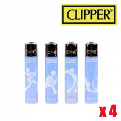Briquet CLIPPER ROCK ON  Lot de 4
