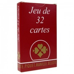Jeu de 32 Cartes France Cartes - Lot de 10 !