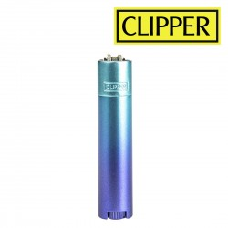 Briquet Clipper METAL Blue Gradient