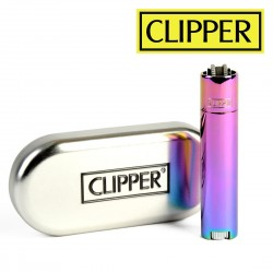 Briquet Clipper METAL RAINBOW