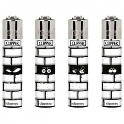 Briquet CLIPPER WALLS  Lot de 4
