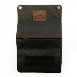 Blague à Tabac Cuir - KAVATZA Cuir Black (Nubuck Noir)