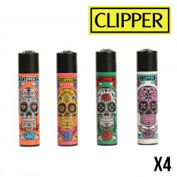 Briquet CLIPPER CAVALERAS Colors  Lot de 4