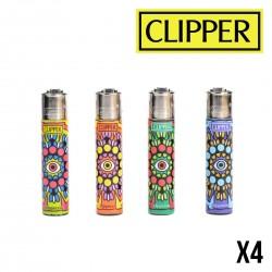 Briquet CLIPPER EYE MANDALA  Lot de 4
