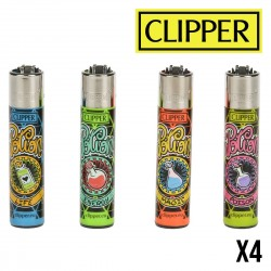 Briquet CLIPPER JAMAICAN LEAVES  Lot de 4
