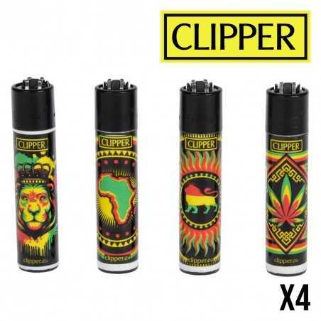 Briquet CLIPPER Rasta Stencils  Lot de 4