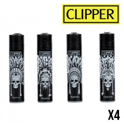 Briquet CLIPPER CATRINAS MAYA Lot de 4