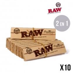 Lot de 10 RAW Connaisseur SLIM - Feuilles + Tips