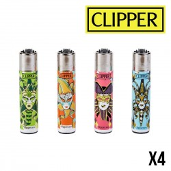 Briquet CLIPPER CARNAVAL MASK x4